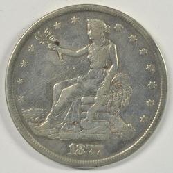 Scarce 1877-S Trade Silver Dollar