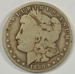 Scarcer 1880-CC Morgan Silver Dollar. Circ