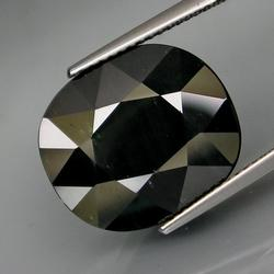 Substantial 17.68ct heated only natural black Sapphire