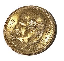 1945 Mexico  2 1/2  Pesos BU Gold