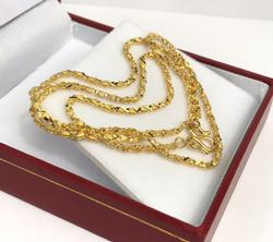 24KT SOLID YELLOW GOLD CHAIN NECKLACE