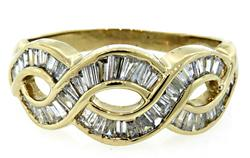 1.0 CTW Swirl Diamond Band