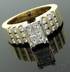 Yellow Gold Ladies 1.14ct Diamond Ring