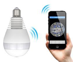 360-Degree Security Spy Camera in Light Bulb Shape