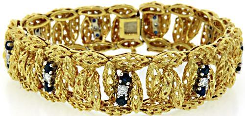 Spectacular Sapphire & Diamond Vintage Style Bracelet
