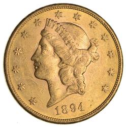 1894-S $20.00 Liberty Head Gold Double Eagle - Not Circulated