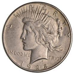1928-S Peace Silver Dollar- Circulated