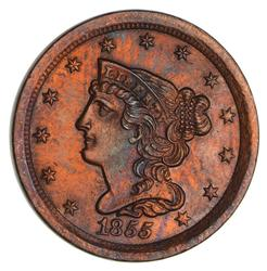 1855 Braided Hair Half Cent- Not Circulated
