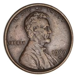 1909-S V.D.B. Lincoln Wheat Cent- Circulated
