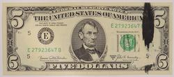 ERROR: Ink Smear 1969-B $5.00 Green Seal Federal Reserve Note