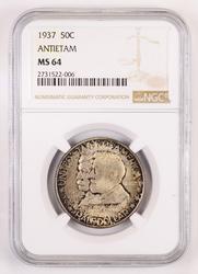 MS64 1937 Antietam Half Dollar - NGC Graded