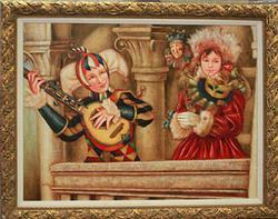 Framed Hand Signed Edgar Barrios Oil
