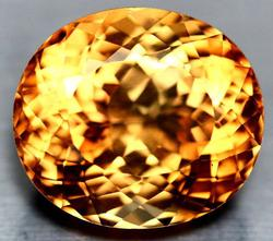 Significant 30.57ct full flashing VVS Imperial Topaz