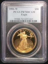 2006-W $50 1oz Gold Eagle PR70DCAM PCGS