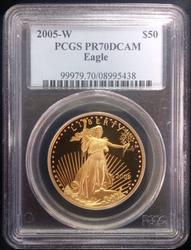 2005-W $50 1oz Gold Eagle PR70DCAM PCGS