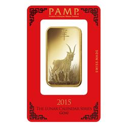 PAMP Suisse 100 Gram Gold Bar 2015 Goat Design