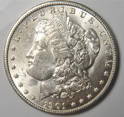 1901-O Brilliant Uncirculated Morgan $
