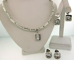 Sterling Silver and Crystal Jewelry Set