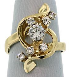 Fancy Diamond Swirl Ring