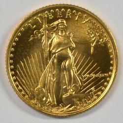 Superb Gem BU 1986 $5 American Gold Eagle