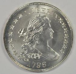 Impressive Exact COPY of a 1796 Draped Bust Half Dollar