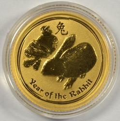 Gem BU Year of the Rabbit 2011 $15 Australian Gold