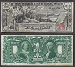 $1 1896 Fr.224 Educational SC Beautiful