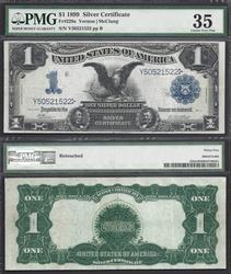 $1 1899 SC BLACK EAGLE Fr.229a RARE PMG CH VF35