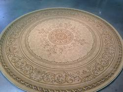 8 Round Classic French Scroll Design Area Rug