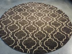 Exquisite Modern Moroccan Style Texture 8 Ft Round Rug