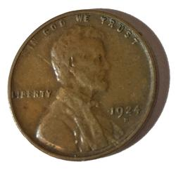 1924-D semi key Lincoln Cent