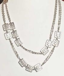 Attractive 'Crown Trifari' Extra Long, Double Chain Characters Neck