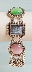 Devine, Multi Colored, 'Pate de Verre' Moonstones Bracelet