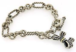 David Yurman Bow Charm Bracelet in Sterling Silver