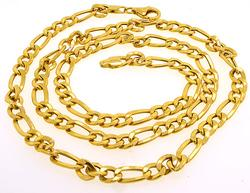 14kt Yellow Gold Figaro Chain Necklace