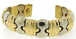 Two Tone cuff Bracelet in 18K