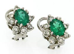 Timeless Emerald & Diamond Earrings in 18K