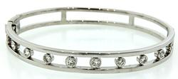 1.0 CTW Diamond Bangle Bracelet
