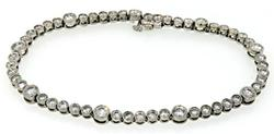 5 CTW Bezel Set Diamond Bracelet