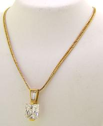 Huge CZ Pendant with Chain