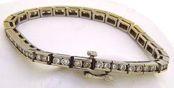 Gorgeous Channel Set Diamond Tennis Bracelet