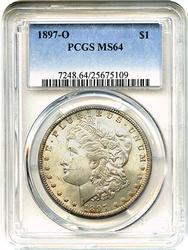 Popular Tough Date 1897-O Morgan $1 PCGS MS64