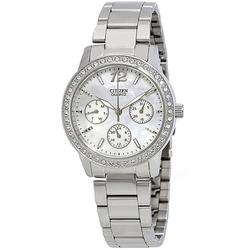 Lades Swarovski Mother of Pearl Day/Date/24hour Citizen