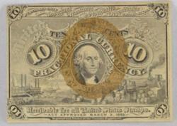 10 Cent Third Series 10 Cent Fractional Note Green Reverse FR1244