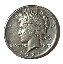 Key 1921 High Relief Peace Dollar
