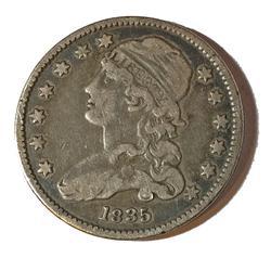 1835 Reduced Size Bust Quarter