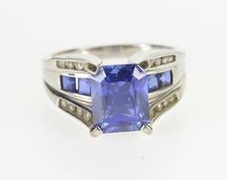Tanzanite* High Bridge Channel Diamond Accent Ring