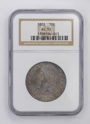 AU50 1826 Capped Bust Half Dollar - NGC Graded