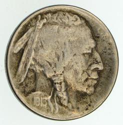 1913-S Buffalo Indian Nickel - Type 2 - Circulated