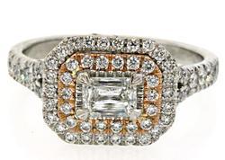 Two Tone Multi VS Diamond Ring